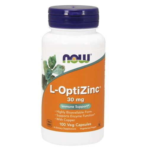 L-ОптиЦинк (L-OptiZinc) Now Foods, 100 капсул