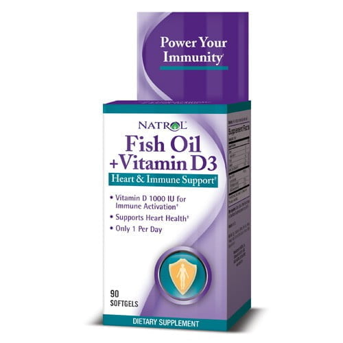 Fish Oil & Vitamin D3, 90 капсул
