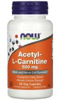Ацетил-L-Карнитин Нау Фудс (Acetyl-L-Carnitine) Now Foods, 50 капсул