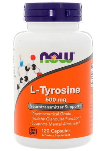 Л-Тирозин (L-Tyrosine) Now Foods, 500 мг, 120 капсул