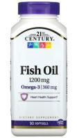 Рыбий жир (Fish Oil) 21st Century, 1200 мг, 90 мягких таблеток
