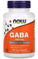 ГАМК (Gaba) Now Foods, 500 мг, 100 капсул